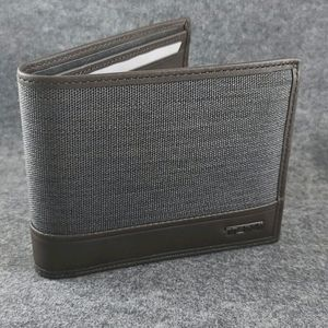 Tumi GBL pass case wallet with ID flap-Charcoal